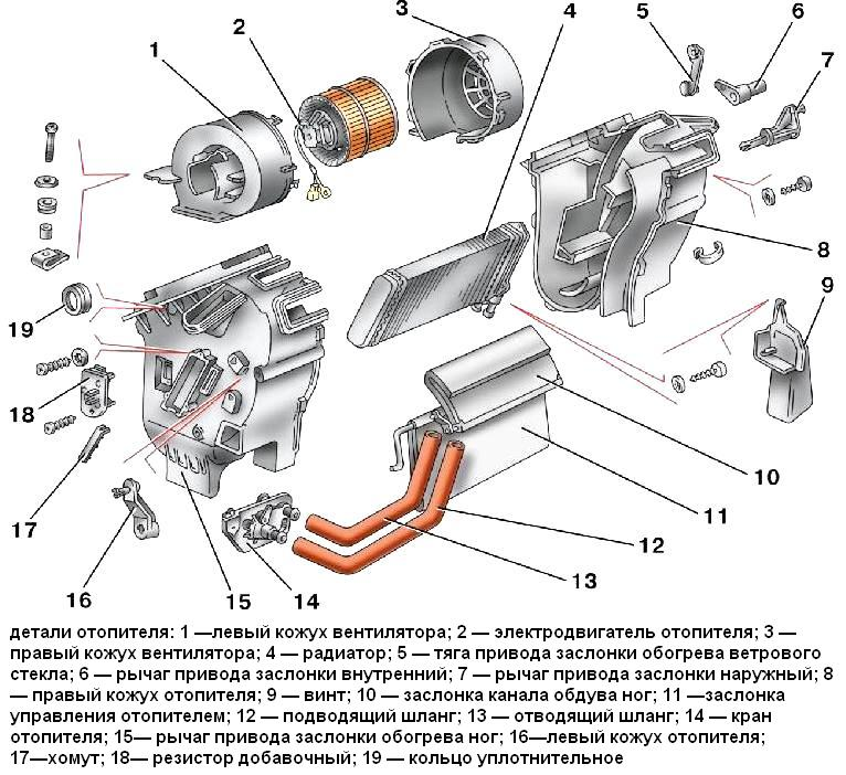 Отопитель ВАЗ-2109