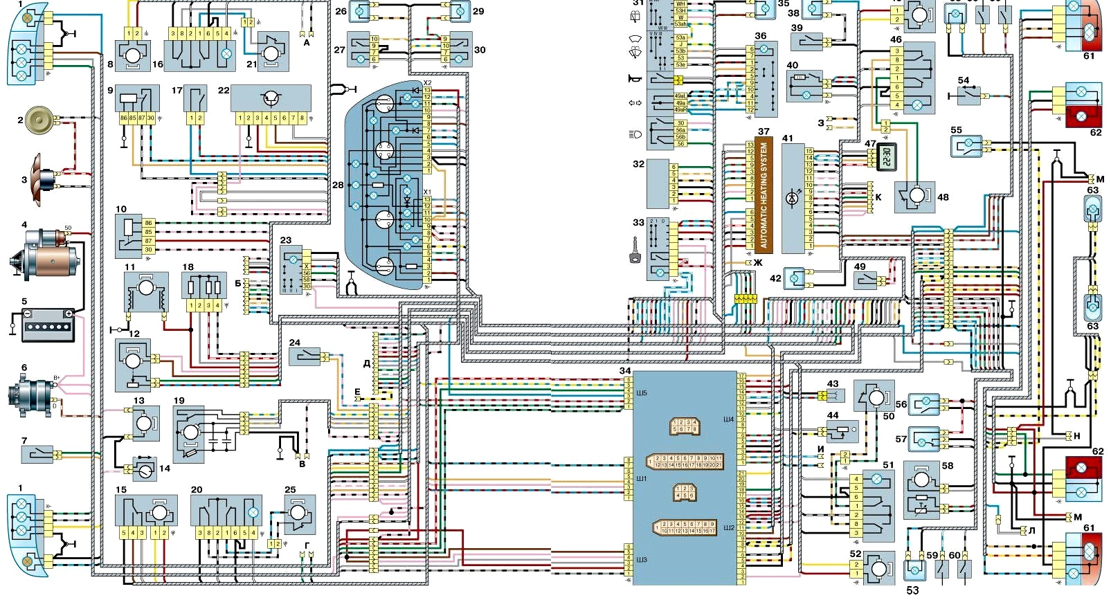 Фото №18 - ВАЗ 2110 инжектор схема