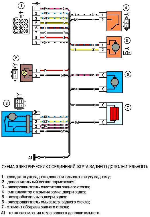 Электросхема подключения иммобилайзера ваз