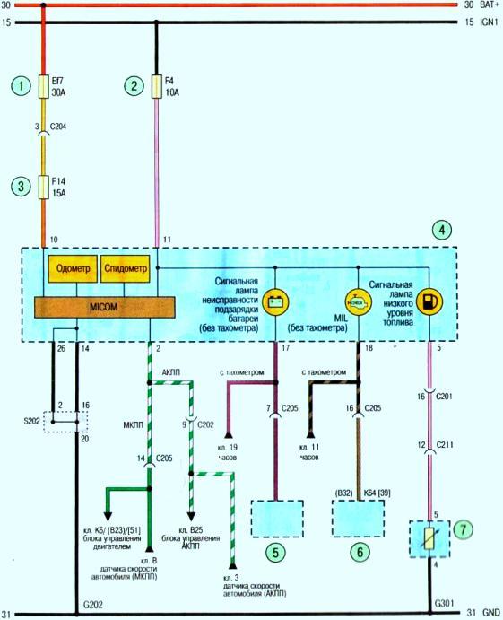 Схема(б) . комбинация