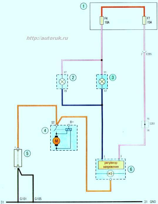 Схема зарядки аккумуляторной