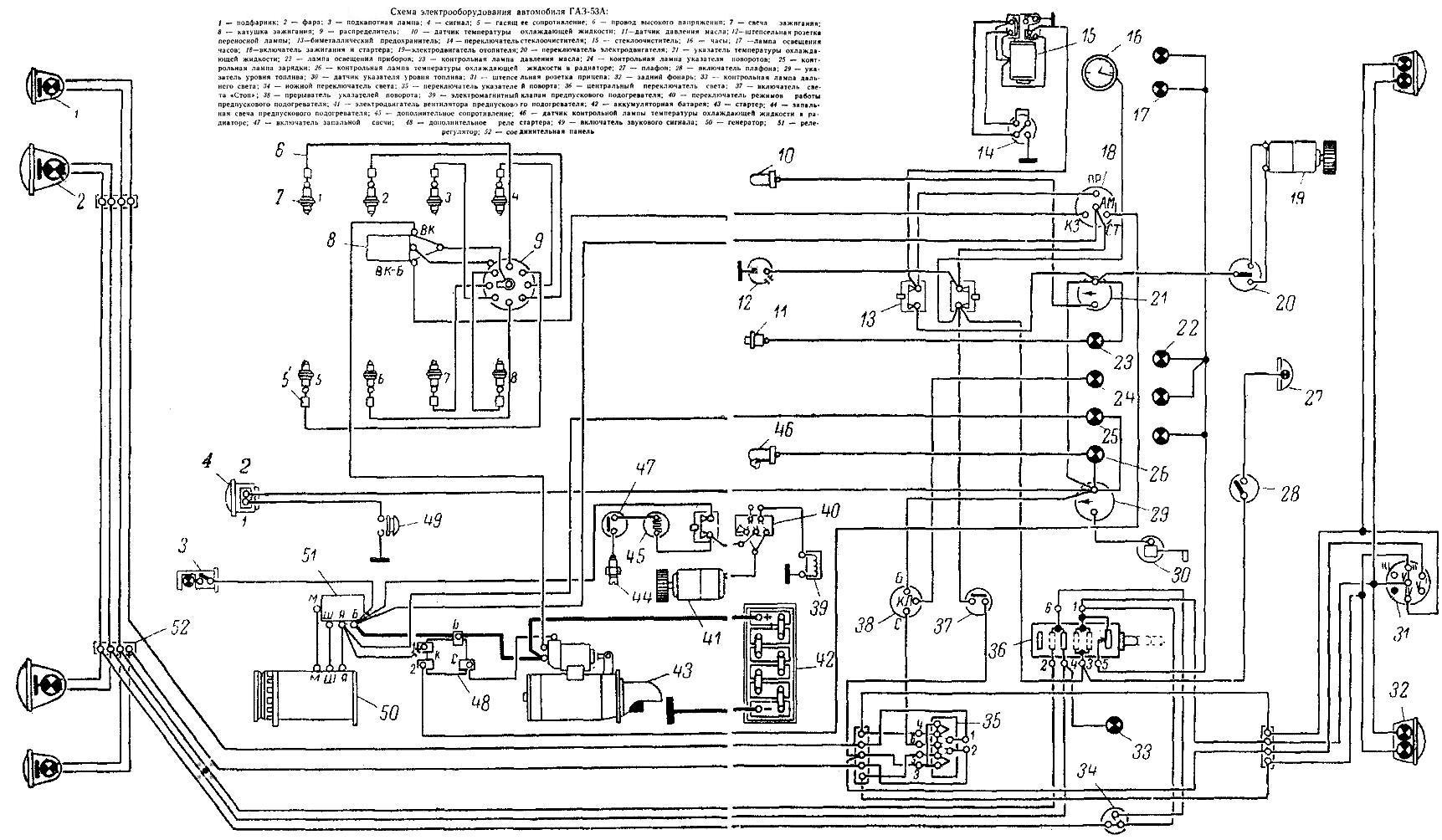 электро схема газ-66