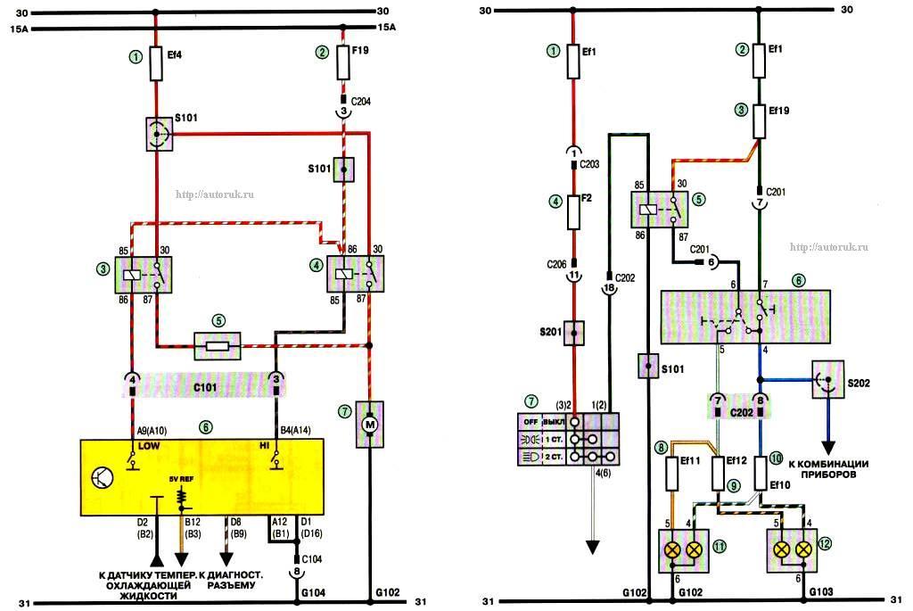 Схема За. Соединения приборов