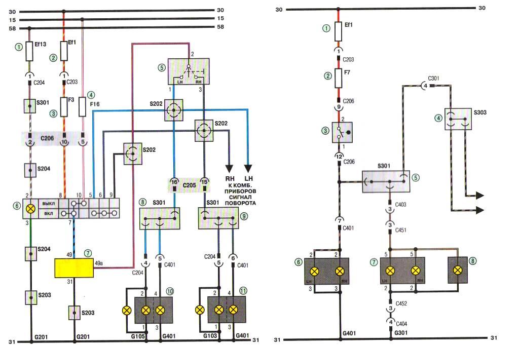 Схема Зж. Соединения приборов