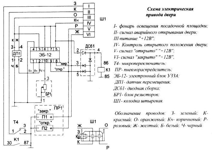 Схема привода двери