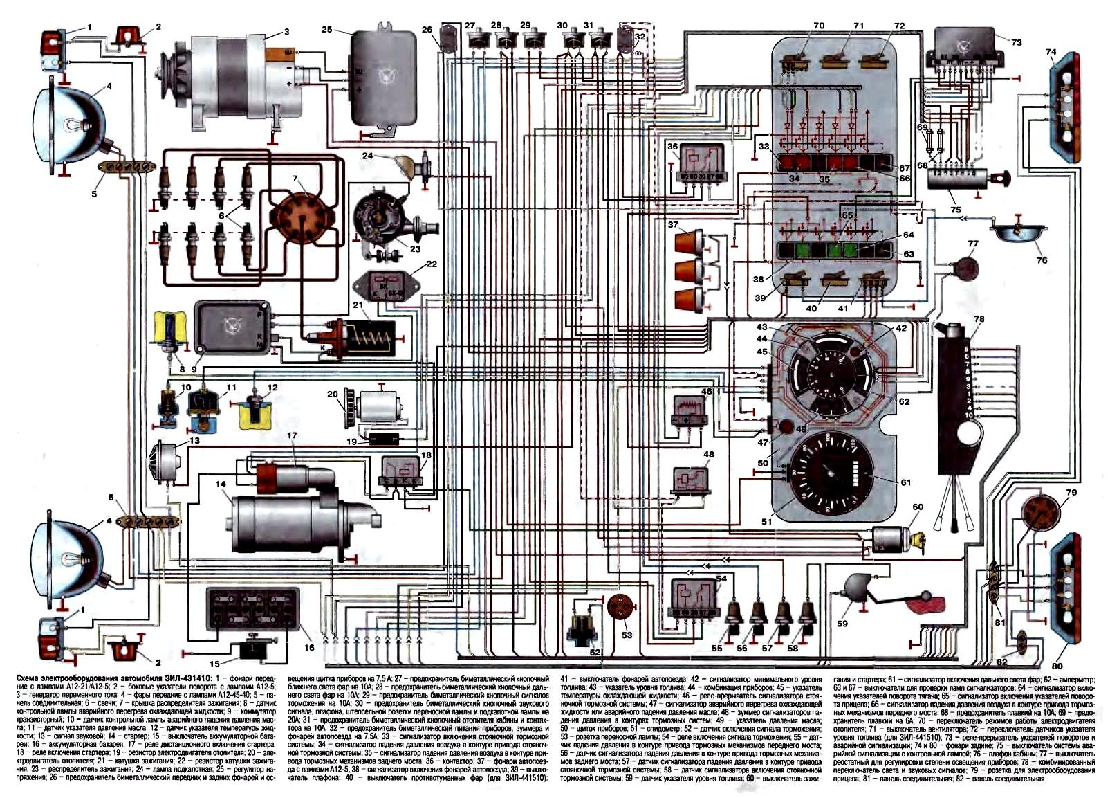 Схема работы поворотников на зил 130