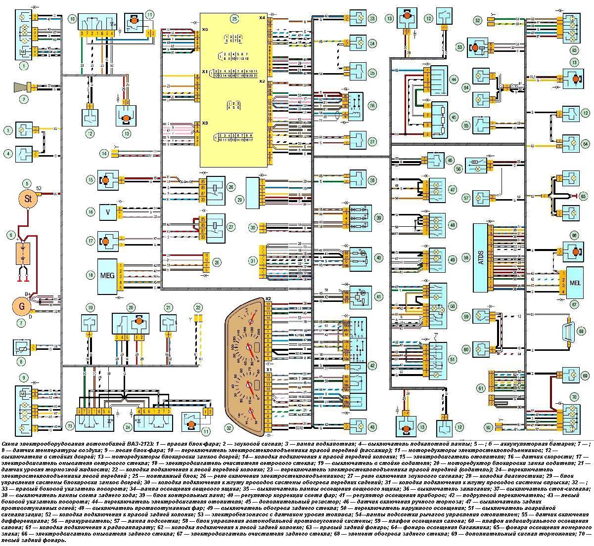 Электросхема нива шевроле 2123 фото 783