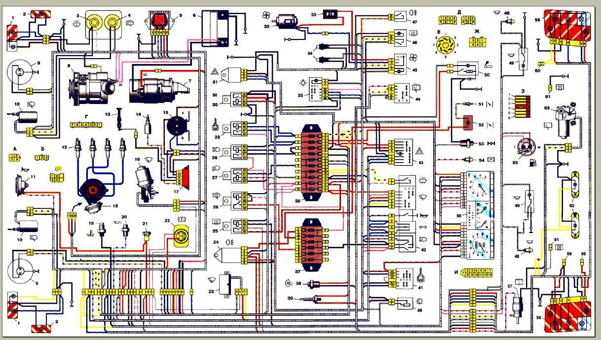 Схема задних фонарей нива 2131