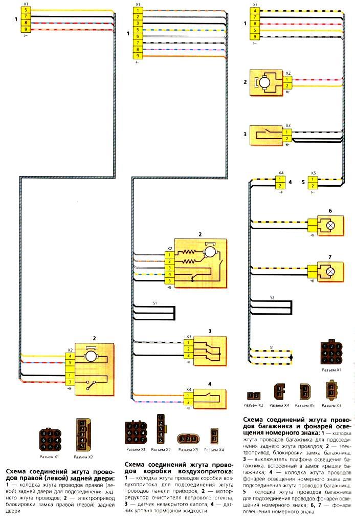 Схемы Схемы соединений жгутов