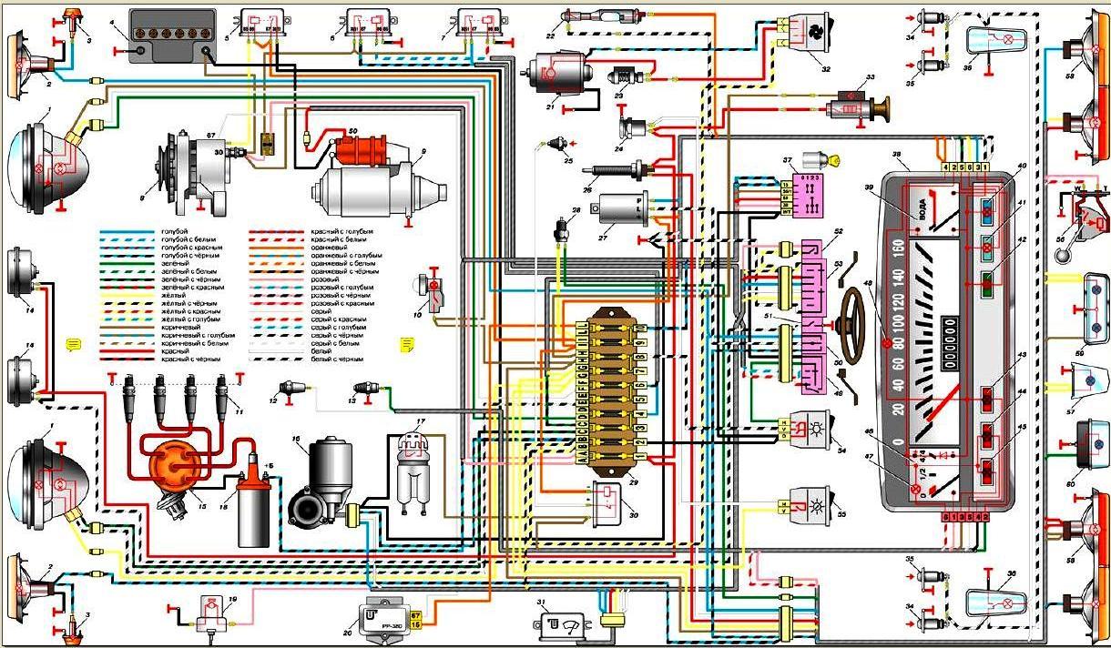 Электросхема лада приора - схема электрооборудования