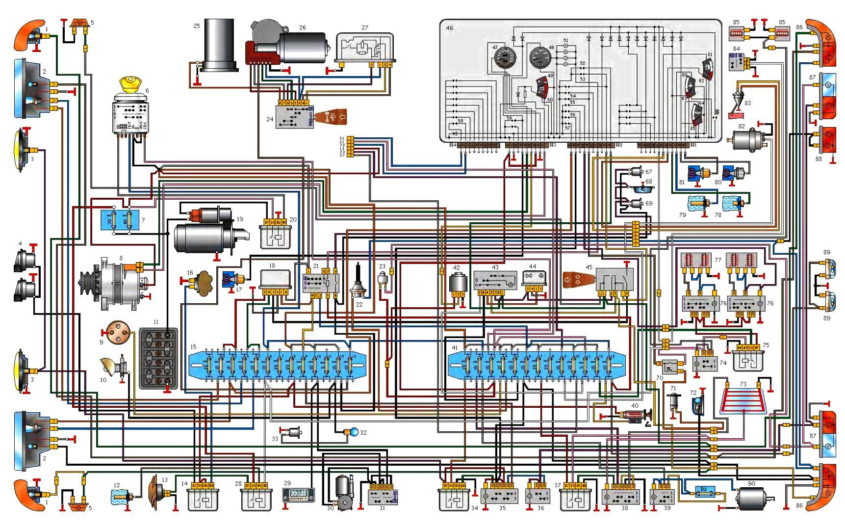 Схема подключения света на газели