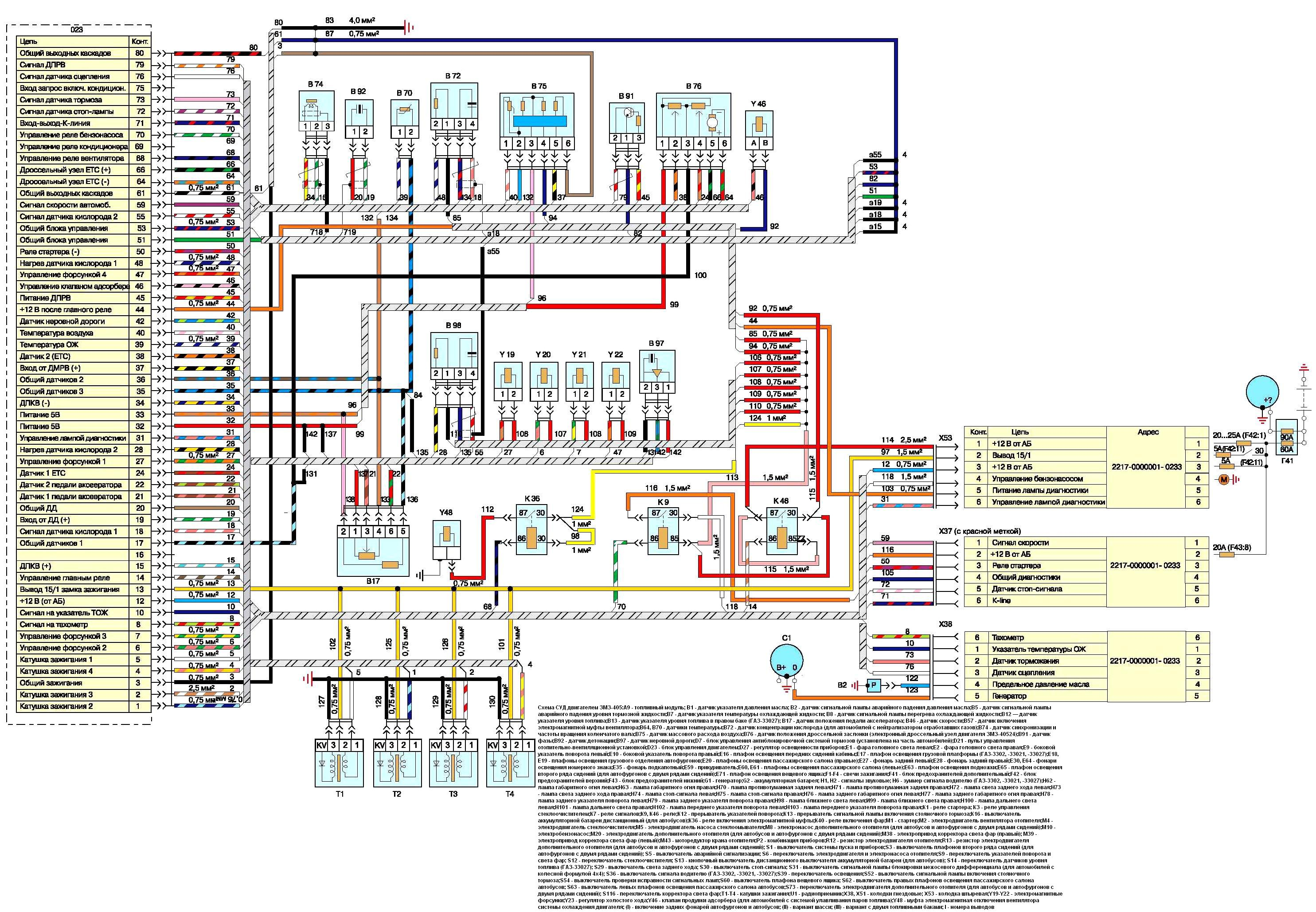 Схема подключения 405 двигателя