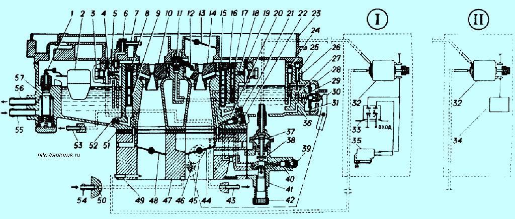 Рис.8 Схема карбюраторов К-151