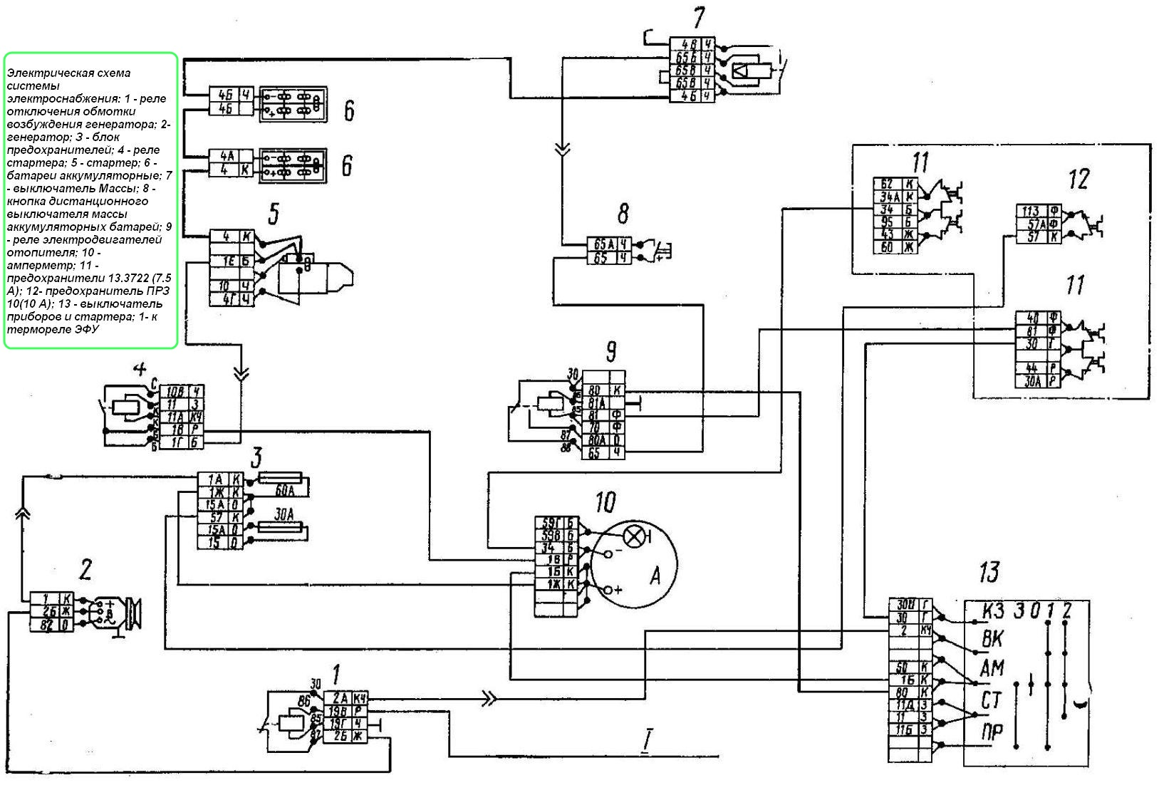 Камаз 5320 схему реле поворотов