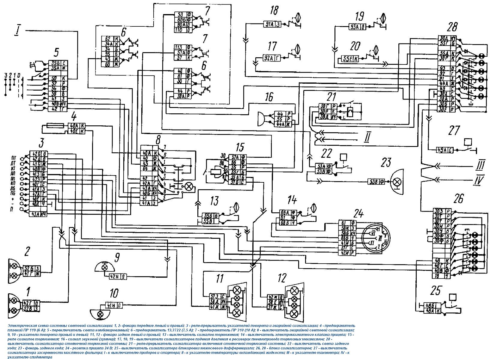 Электро схема автомобиль камаз