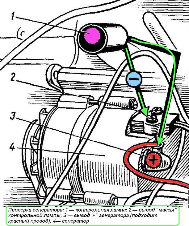 Схема подключения генератора на камазе 4310