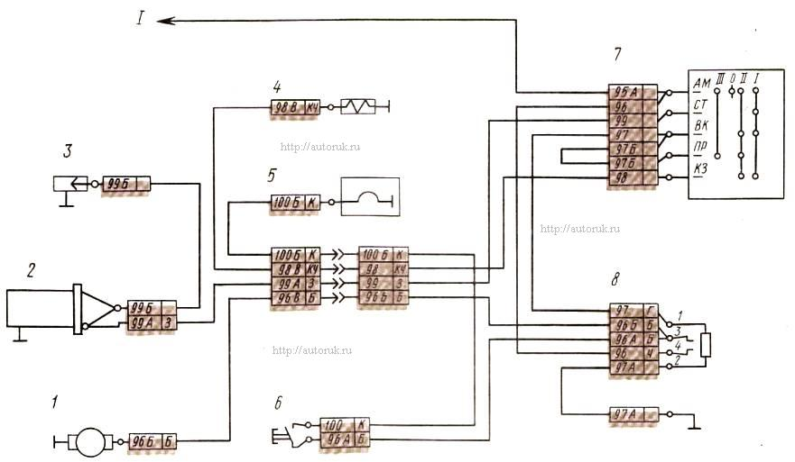 Рис.Схема электрооборудования