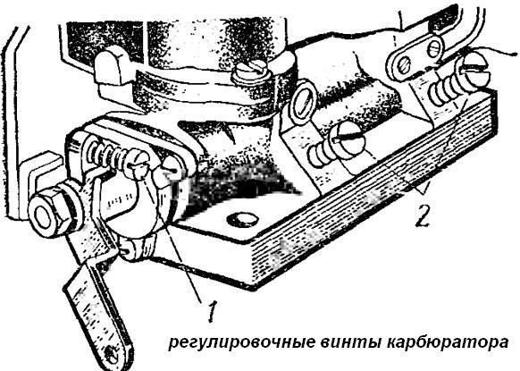 Регулировка карбюратора К-126
