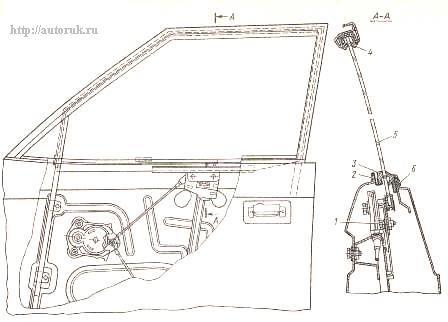 Замена троса стеклоподъемника