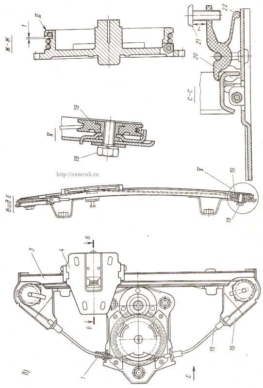 Ваз 2105 схема сборки стеклоподъемника