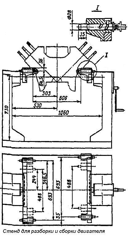 Стенды для ремонта двигателей ямз 238 своими руками