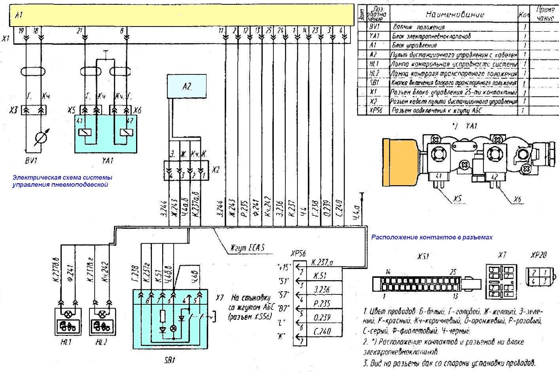 Схема пневмоподвески маз 6430а9