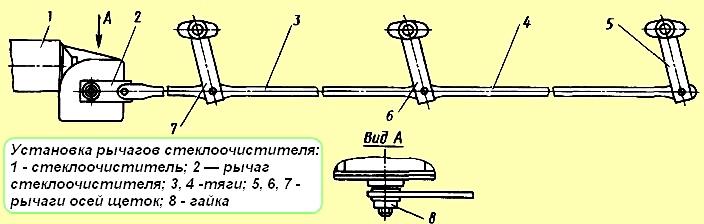 Мотор стеклоочистителя для МАЗ 3