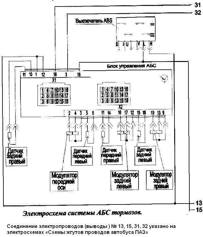 Датчики АБС, модуляторы, и сам