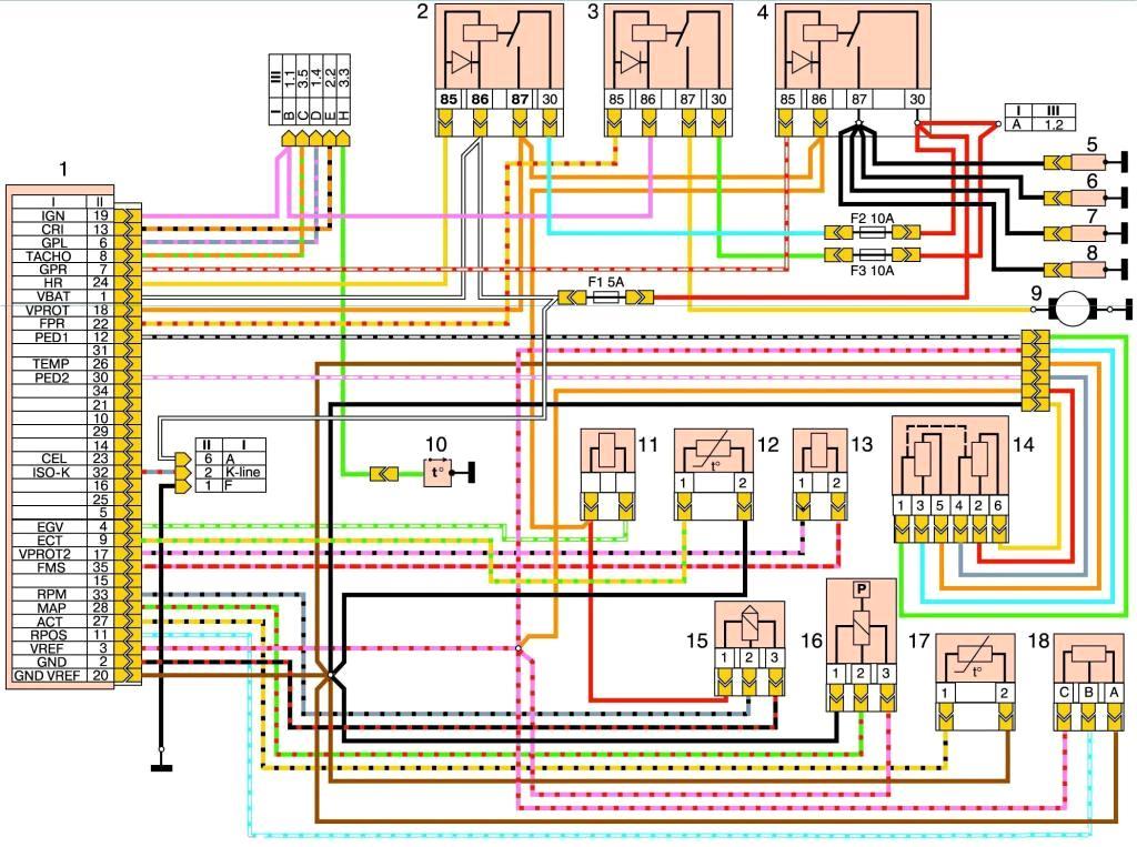 Схема системы управления электромагнит