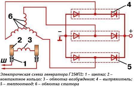 схема электрическая мтз