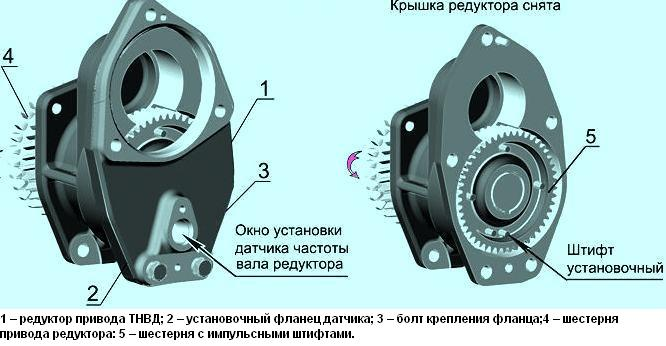 5– Редуктор привода ТНВД