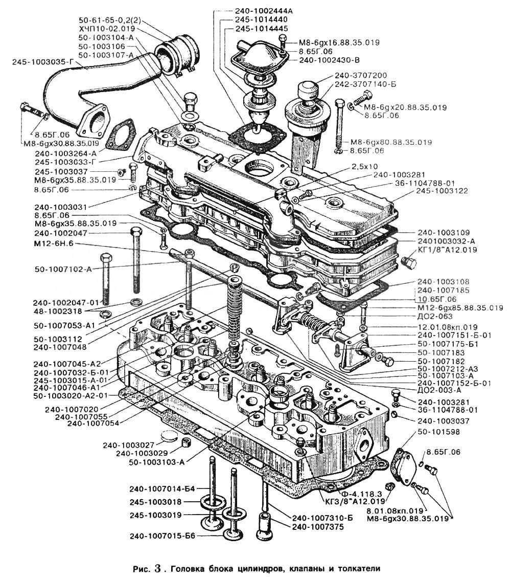 д-245 схема двигателя
