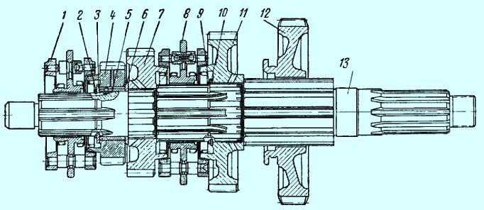 Вторичный вал кпп ЗИЛ-5301