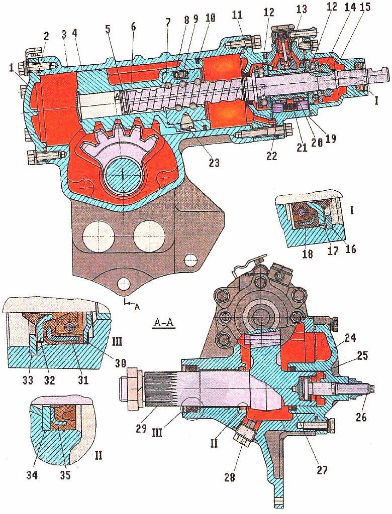 Зил 5301 рулевое управление схема